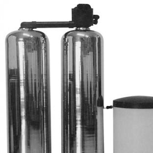 2吨单阀双罐软化水设备